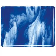 Clear, Deep Cobalt Blue Opal 2-Color Mix, Double-rolled, 3 mm, Fusible, 17x20 in., Half Sheet