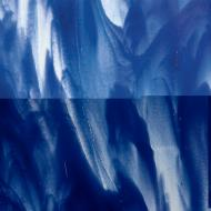 Clear, Deep Cobalt Blue Opal 2-Color Mix, Double-rolled, 3 mm, Fusible, 10x10 in.