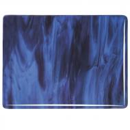 Blue Opalescent, Plum Transparent 2-Color Mix, Double-rolled, 3 mm, Fusible, 17x20 in., Half Sheet
