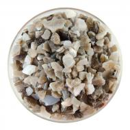 White Opalescent, Dark Brown Transparent 2-Color Mix, Extra Large Frit, Fusible, 1 lb. jar