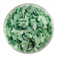 Mint Green Opalescent, Aventurine Green Transparent 2-Color Mix, Extra Large Frit, Fusible, 1 lb. jar