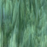 Mint Opalescent, Deep Forest Green Transparent 2-Color Mix, Double-rolled, 3 mm, Fusible, 35x20 in., Full Sheet