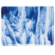 Clear, Blue Aventurine 2-Color Mix, Double-rolled, 3 mm, Fusible, 17x20 in., Half Sheet