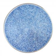 Caribbean Blue Transparent, White Opalescent 2-Color Mix, Fine Frit, Fusible, 5 lb. jar