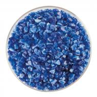 Caribbean Blue Transparent, White Opalescent 2-Color Mix, Coarse Frit, Fusible, 5 lb. jar