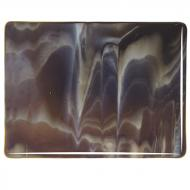 Dark Brown Transparent, White Opalescent 2-Color Mix, Double-rolled, 3 mm, Fusible, 17x20 in., Half Sheet