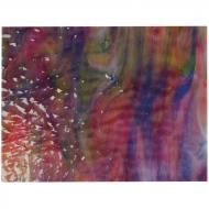 Cranberry Pink Transparent, Royal Blue Transparent, Spring Green Transparent, White Opalescent 3+ Color Mix, Soft Ripple Texture, 3 mm, Fusible, 17x20 in., Half Sheet