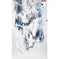Clear Transparent, White Opalescent, Black Opalescent Graffiti 3+ Color Mix, Double-rolled, 3 mm, Fusible, 35x20 in., Full Sheet