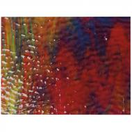 Cranberry, Royal Blue, Spring Green 3+ Color Mix, Soft Ripple Texture, 3 mm, Fusible, 17x20 in., Half Sheet