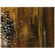Woodland Brown Opalescent, Ivory Opalescent, Black Opalescent 3+ Color Mix, Soft Ripple Texture, 3 mm, Fusible, 10x10 in.