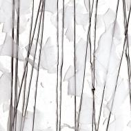 White (with Black Streamers) on Clear Clear Base Collage, Single-rolled, 3 mm, Fusible, 35x20 in., Full Sheet