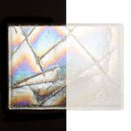 Clear Chopstix Clear Base Collage, Double-rolled, Iridescent, rainbow, 3 mm, Color Sample, 2x2 in.