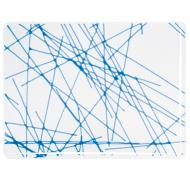 Blue Chopstix Clear Base Collage, Double-rolled, 3 mm, Color Sample, 2x2 in.