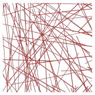 Red Chopstix Clear Base Collage, Double-rolled, 3 mm, Fusible, 10x10 in.