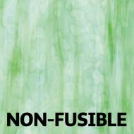 Light Celery Green Opalescent, Lime Green Transparent, 2-Color Mottle Mix, Single-rolled, 3 mm, Non-fusible, 10x10 in.
