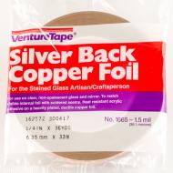 Copper Foil, Silver Back, 1.5 mil, 1/4 in x 36 yd (6.35 mm x 33 m)