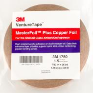 Copper Foil, 1.5 mil, 7/32 in x 36 yd (5.56 mm x 33 m)