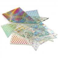 Dichro Scrap Pack, Clear, Thin, Assorted Patterns, 4 oz