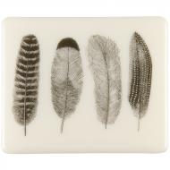 Fusible Decals, Feathers, Black