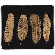 Fusible Decals, Feathers, Gold