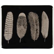 Fusible Decals, Feathers, Platinum