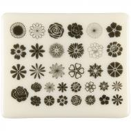 Fusible Decals, Flowers, Black
