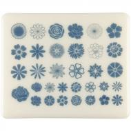 Fusible Decals, Flowers, Blue