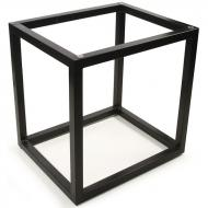 Accent Table Base, Flat Top, Black Powder-Coat Finish