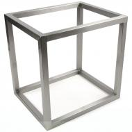 Accent Table Base, Flat Top, Nickel Finish