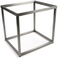 Accent Table Base, Recessed Top, Nickel Finish