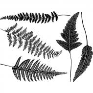 Fusible Decals, Ferns, Gold