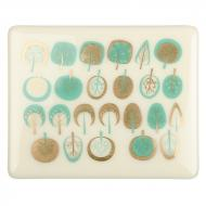 Fusible Decals, Modern Trees, Turquoise-Gold 2-Color