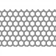 Fusible Decals, Honeycomb Pattern, Platinum