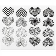 Fusible Decals, Modern Heart, Black
