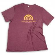 Bullseye Resource Center Los Angeles T-shirt, Men's/Unisex V-neck, X-Small