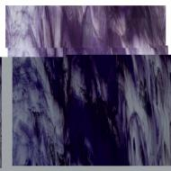 Special Production: Clear, Deep Royal Purple, White streaks 3+ Color Mix, Double-rolled, 3 mm, Fusible, 10x10 in.