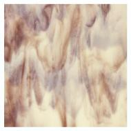 Special Production: French Vanilla Opalescent, Deep Plum 2-Color Mix, Double-rolled, 3 mm, Fusible, 10x10 in.