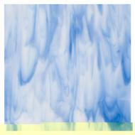 Special Production: White, Egyptian Blue Opal 2-Color Mix, Double-rolled, 3 mm, Fusible, 17x20 in., Half Sheet