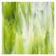Special Production: Dense White, Light Aventurine Green 2-Color Mix, Double-rolled, 3 mm, Fusible, 17x20 in., Half Sheet
