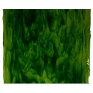 Spring Green Transparent, Aventurine Green Transparent 2-Color Mix, Double-rolled, 3 mm, Fusible, 17x20 in., Half Sheet
