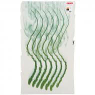 Warm White Opalescent, Steel Jade Opalescent 2-Color Mix, Wave, Double-rolled, 3 mm, Fusible, 17x20 in., Half Sheet