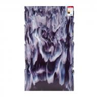 Medium Purple Transparent, White Opalescent 2-Color Mix, Double-rolled, 3 mm, Fusible, 17x20 in., Half Sheet
