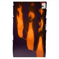 Amethyst Transparent, Orange Transparent Windows 2-Color Mix, Double-rolled, 3 mm, Fusible, 17x20 in., Half Sheet