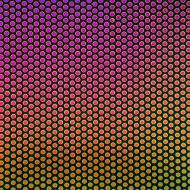 Dichroic on Black Opalescent, Small Dots, Thin-rolled, 2 mm, Fusible, 3x3 in.