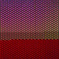 Dichroic on Clear Transparent, Small Dots, Thin-rolled, 2 mm, Fusible, 3x3 in.