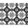 Fusible Decals, Flower Pattern, Black